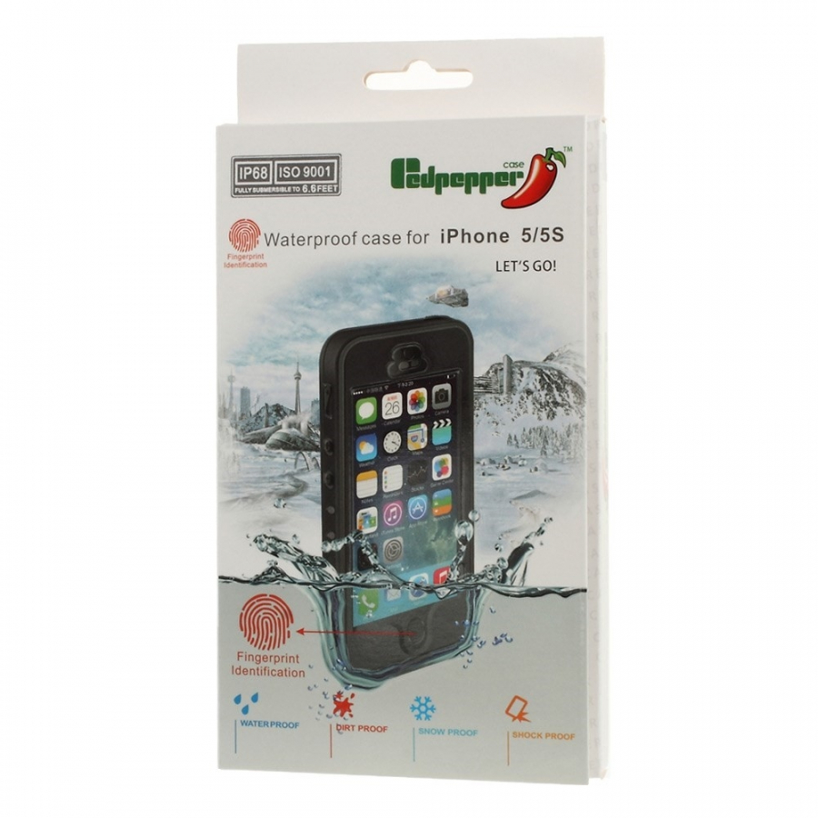 ... Voděodolné pouzdro   obal se snímačem otisků pro Apple iPhone 5   5S    SE aff684cfef6
