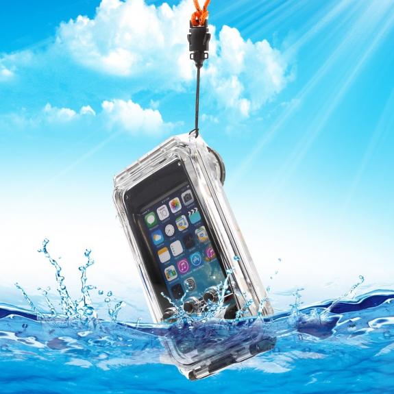 AppleKing super odolné vodotěsné IPX8 pouzdro pro Apple iPhone 5 / 5S / SE - černé - možnost vrátit zboží ZDARMA do 30ti dní