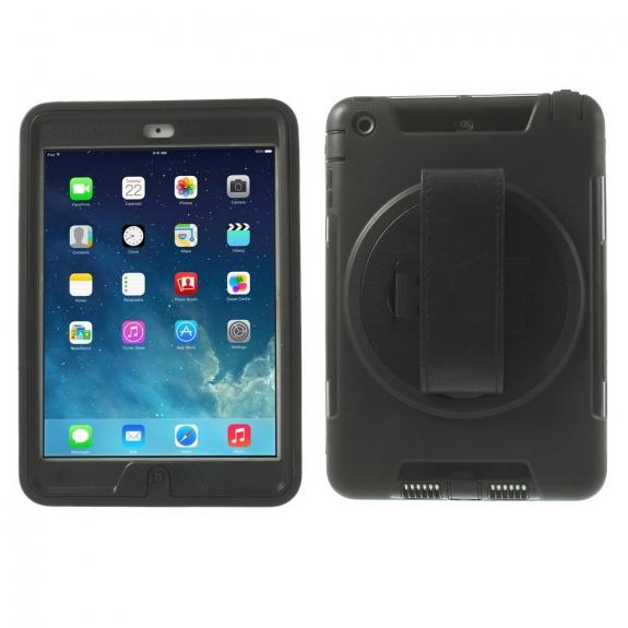 AppleKing pouzdro s manžetou na zápěstí a kolo pro Apple iPad Mini 1. / 2. gen. - černé - možnost vrátit zboží ZDARMA do 30ti dní