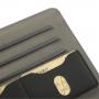 Černé kožené pouzdro s otáčením a sloty na karty pro Apple iPad mini 1. / 2. / 3. gen