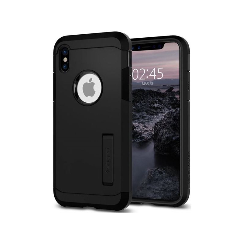 Spigen Armor odolný tenký kryt pro Apple iPhone XS   iPhone X - černý ... 33c48fe017e