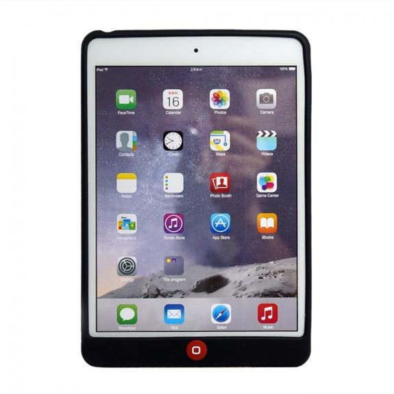 Silikonový kryt s ochranou Home button na Apple iPad Mini 1. / 2. / 3. gen. - černý