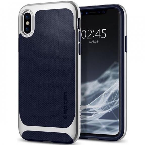 Spigen Neo prémiový ochranný kryt pro Apple iPhone XS / iPhone X - stříbrný 057CS22167 - možnost vrátit zboží ZDARMA do 30ti dní