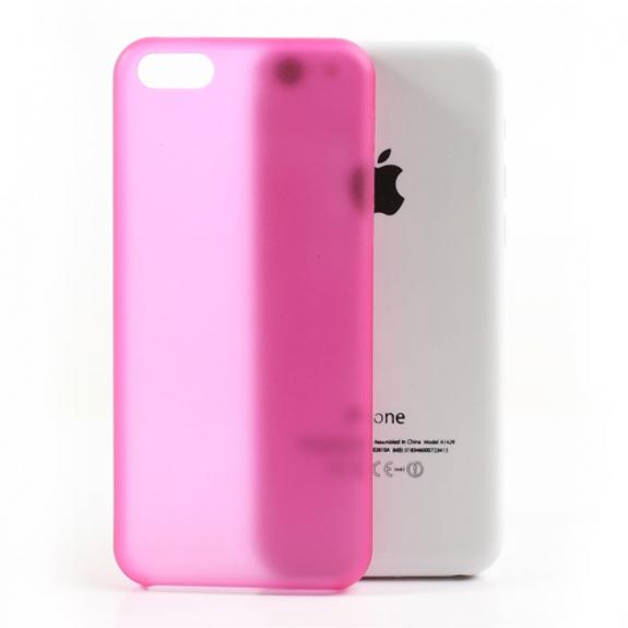 AppleKing ultratenký matný 0.3 mm kryt na Apple iPhone 5C - růžový - možnost vrátit zboží ZDARMA do 30ti dní