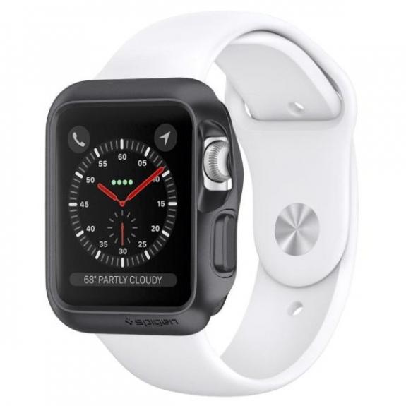Spigen elegantní Armor kryt pro Apple Watch 3 / 2 / 1 42mm - šedý 059CS22563 - možnost vrátit z