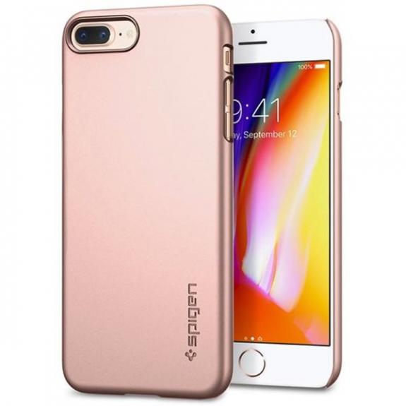 Spigen ultratenký polykarbonátový kryt pro Apple iPhone 7 Plus / 8 Plus - růžově zlatý 055CS22237 - možnost vrátit zboží ZDARMA do 30ti dní