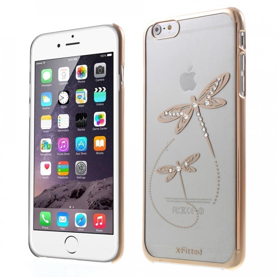 X-FITTED kryt na Apple iPhone 6 Plus   6S Plus - zlatý s vážkami a ... 28cf4ad1bb2