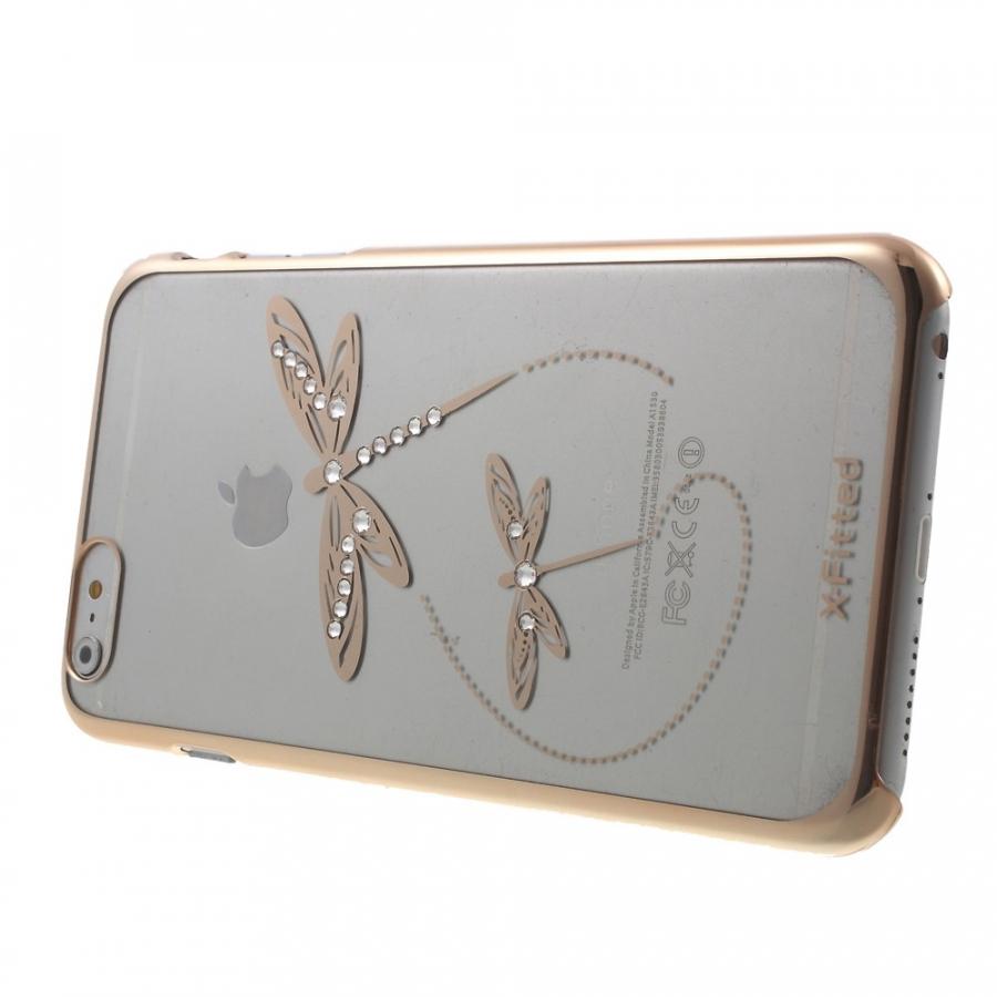 ... X-FITTED kryt na Apple iPhone 6 Plus   6S Plus - zlatý s vážkami ... 871065708ff