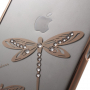 X-FITTED kryt na Apple iPhone 6 Plus / 6S Plus - zlatý s vážkami a kamínky Swarovski
