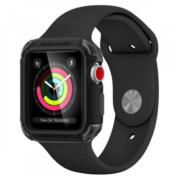 Spigen Armor odolné pouzdro pro Apple Watch 3 / 2 / 1 42mm - černé 059CS22405 - možnost vrátit