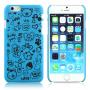 HAT-PRINCE Plastový protiskluzový kryt na Apple iPhone 6 / 6S - nebesky modrý