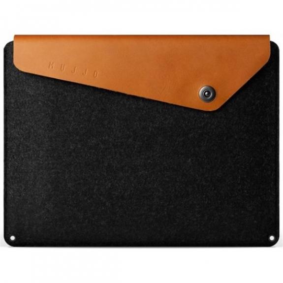 """Mujjo Sleeve luxusní pouzdro s pravou kůží pro Macbook Pro 15""""- černohnědé MUJJO-SL-033-TN - možnost vrátit zboží ZDARMA do 30ti dní"""