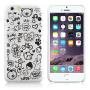 HAT-PRINCE Plastový protiskluzový kryt na Apple iPhone 6 / 6S - bílý