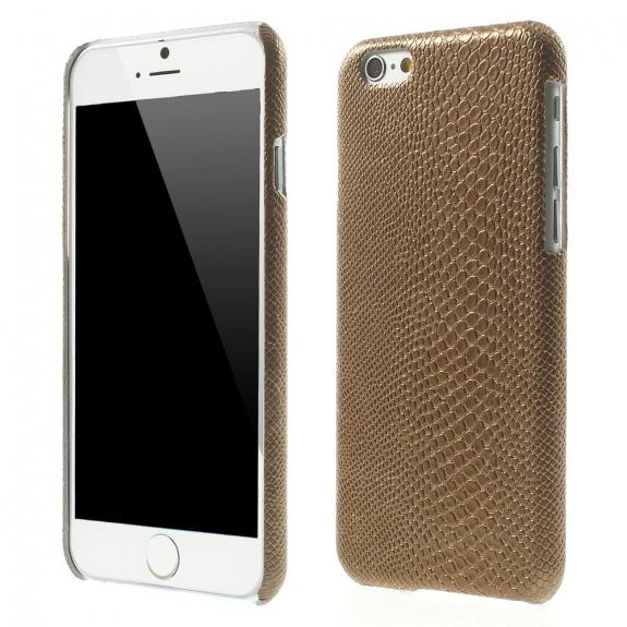 AppleKing kryt s designem ještěří kůže na Apple iPhone 6 / 6S - hnědý - možnost vrátit zboží ZDARMA do 30ti dní