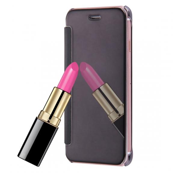 AppleKing zrcadlové otevírací   flipové pouzdro pro Apple iPhone 8   7 -  černé - možnost aa49bfc4671