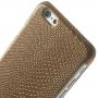 Kryt s designem ještěří kůže na Apple iPhone 6 / 6S - hnědý