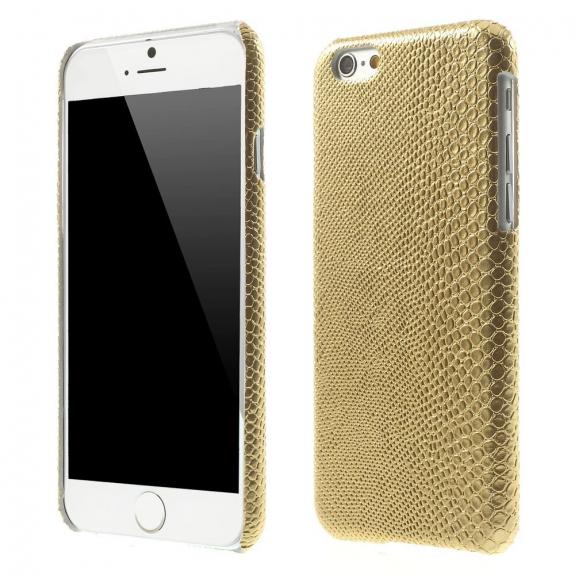 AppleKing kryt s designem ještěří kůže na Apple iPhone 6 / 6S - zlatý - možnost vrátit zboží ZDARMA do 30ti dní