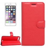 Kožené pouzdro s integrovaným stojánkem a prostorem na doklady pro Apple  iPhone 8 Plus   7 Plus - červené 0feaa8f3a66