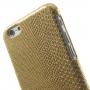 Kryt s designem ještěří kůže na Apple iPhone 6 / 6S - zlatý