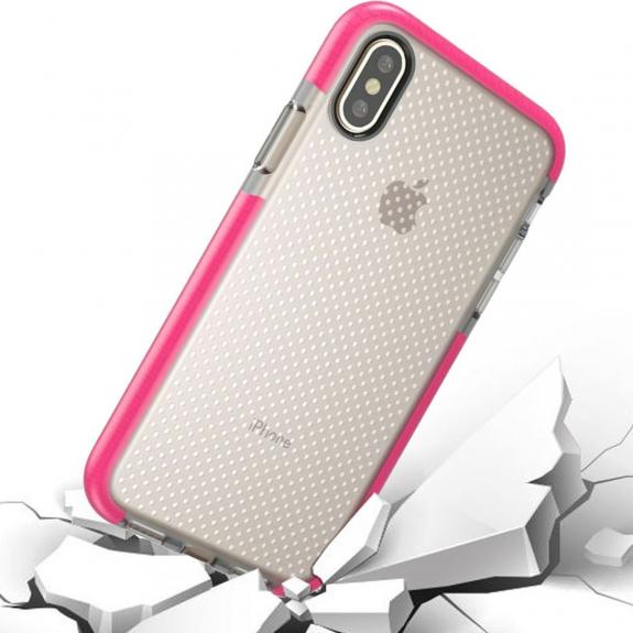 AppleKing kryt na iPhone XS / iPhone X se zesíleným rámečkem a ochranou proti pádu - purpurový - možnost vrátit zboží ZDARMA do 30ti dní