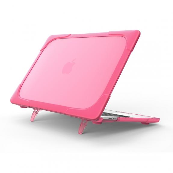 """AppleKing extra odolný nárazuvzdorný kryt s vyklápěcíma nožičkama pro MacBook Pro 13"""" (model A1706, A1708, A1989, A2159) - růžový - možnost vrátit zboží ZDARMA do 30ti dní"""