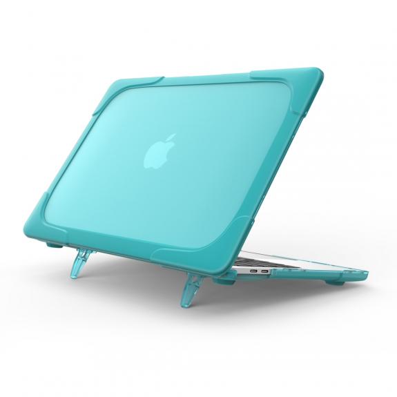 """AppleKing extra odolný nárazuvzdorný kryt s vyklápěcíma nožičkama pro MacBook Pro 13"""" (model A1706, A1708, A1989, A2159) - světle modrý - možnost vrátit zboží ZDARMA do 30ti dní"""