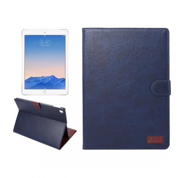"""AppleKing luxusní pouzdro s funkcí uspání a prostorem na doklady pro iPad Pro 9.7"""" / iPad Air 2 - tmavě modré - možnost vrátit zboží ZDARMA do 30ti dní"""