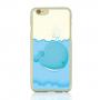Ochranný plastový kryt na Apple iPhone 6 / 6S - velryba s vodotryskem