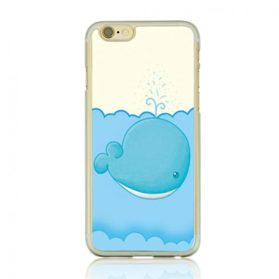 AppleKing ochranný plastový kryt na Apple iPhone 6 / 6S - velryba s vodotryskem - možnost vrátit zboží ZDARMA do 30ti dní