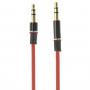 Propojovací audio kabel 3.5mm jack pro iPhone / iPad / iPod / MP3 - 1m červený