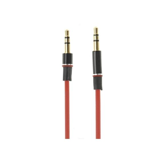 AppleKing propojovací audio kabel 3,5 mm jack pro iPhone / iPad / iPod / MP3 - 1m červený - možnost vrátit zboží ZDARMA do 30ti dní