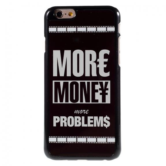 AppleKing tvrzený kryt na iPhone 6 / 6S - More Money More Problems - možnost vrátit zboží ZDARMA do 30ti dní