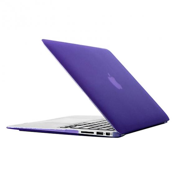 "AppleKing tvrzený ochranný plastový obal / kryt pro MacBook Air 13"" (model A1369 / A1466) - fialo"
