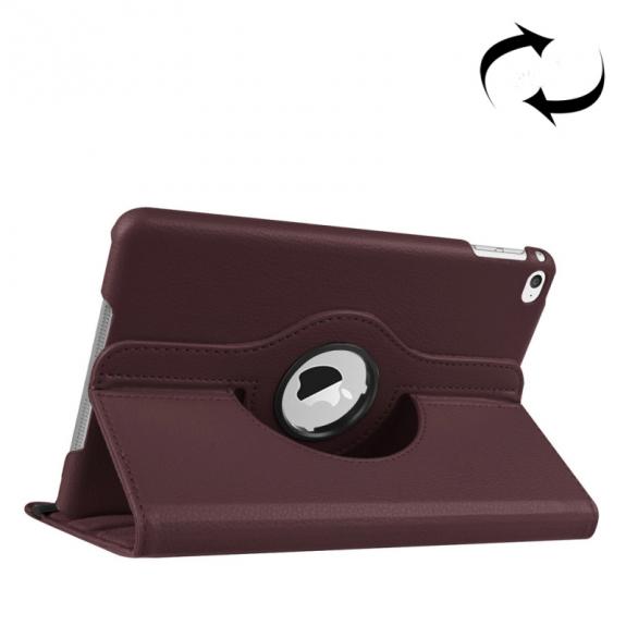 AppleKing pouzdro s otočným držákem pro iPad mini 4 / 5 - kávově hnědé - možnost vrátit zboží ZDARMA do 30ti dní