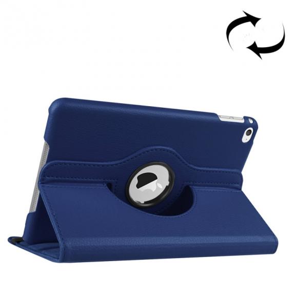 AppleKing pouzdro s otočným držákem pro iPad mini 4 / 5 - tmavě modré - možnost vrátit zboží ZDARMA do 30ti dní