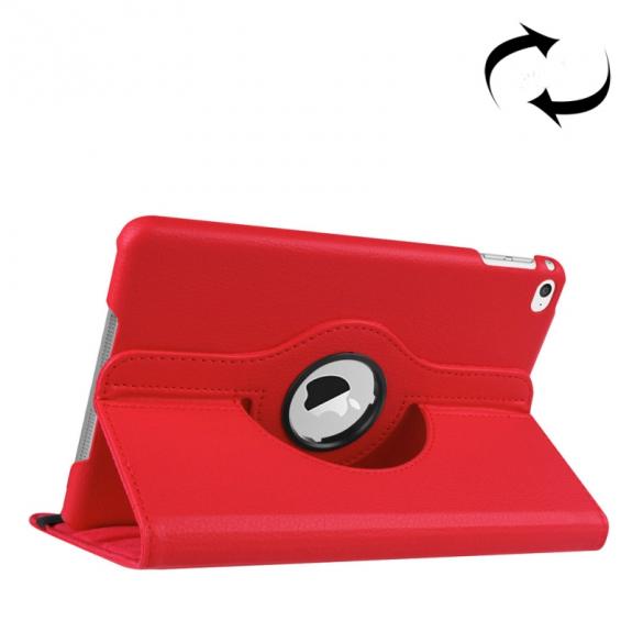 AppleKing pouzdro s otočným držákem pro iPad mini 4 / 5 - červené - možnost vrátit zboží ZDARMA do 30ti dní