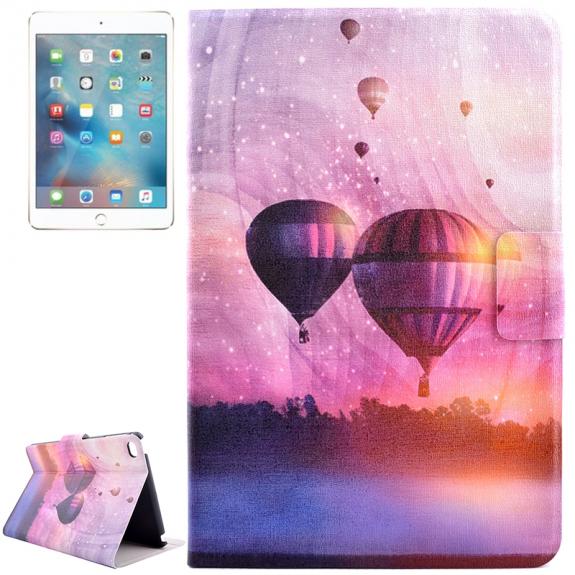AppleKing pouzdro s integrovaným stojánkem pro iPad mini 4 / 5 - horkovzdušné balóny - možnost vrátit zboží ZDARMA do 30ti dní