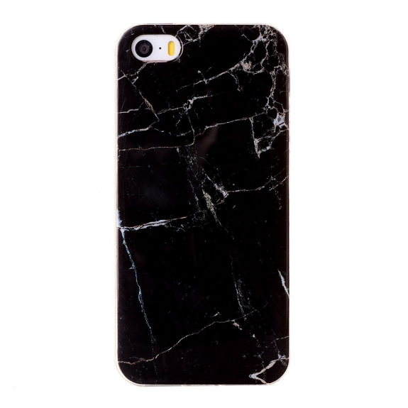 AppleKing ochranný plastový kryt pro Apple iPhone 5 / 5S / SE - černý mramor - možnost vrátit zboží ZDARMA do 30ti dní