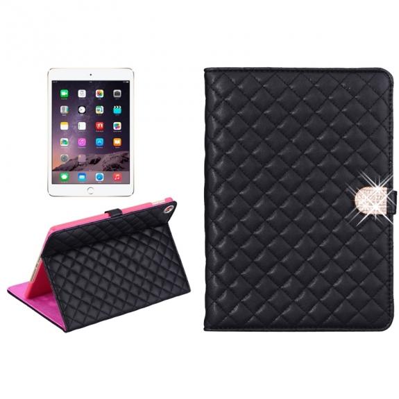 AppleKing pouzdro / kryt s integrovaným stojánkem pro iPad Air 2 - vzor kosočtverce - černé - možnost vrátit zboží ZDARMA do 30ti dní