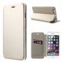 Otevírací / flip kožené pouzdro pro Apple iPhone 6 / 6S - champagne