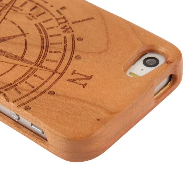 Dřevěný kryt pro Apple iPhone 5   5S - kompas - AppleKing.cz 3e1f4412a16