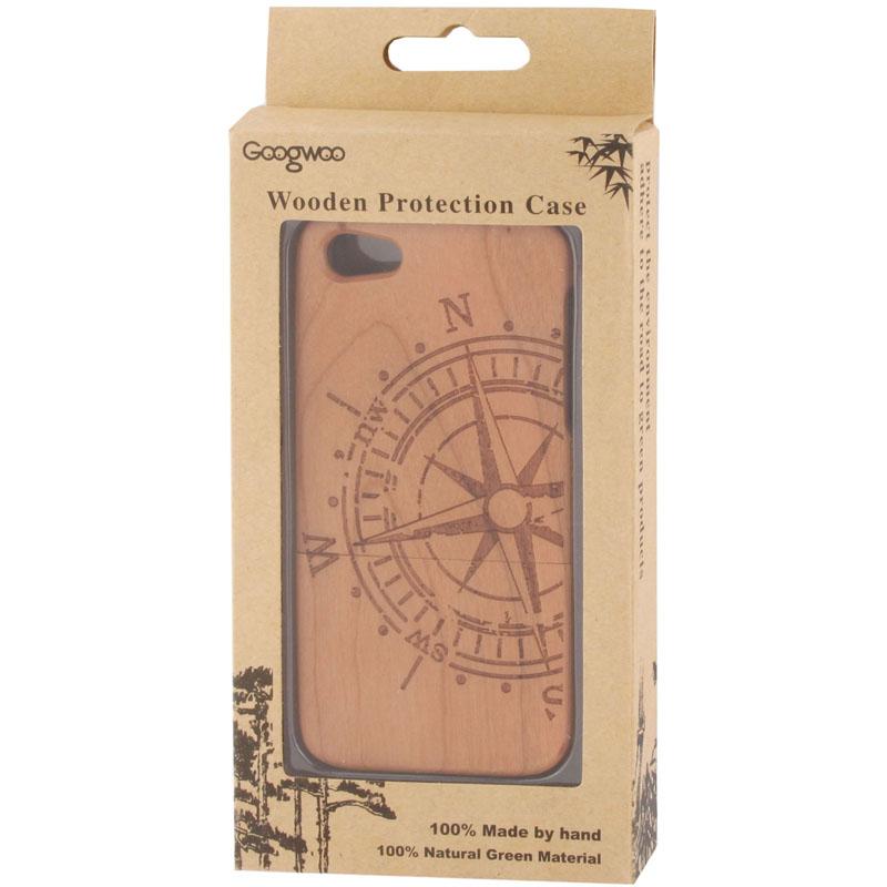 Dřevěný kryt pro Apple iPhone 5   5S - kompas - AppleKing.cz a79163864b6