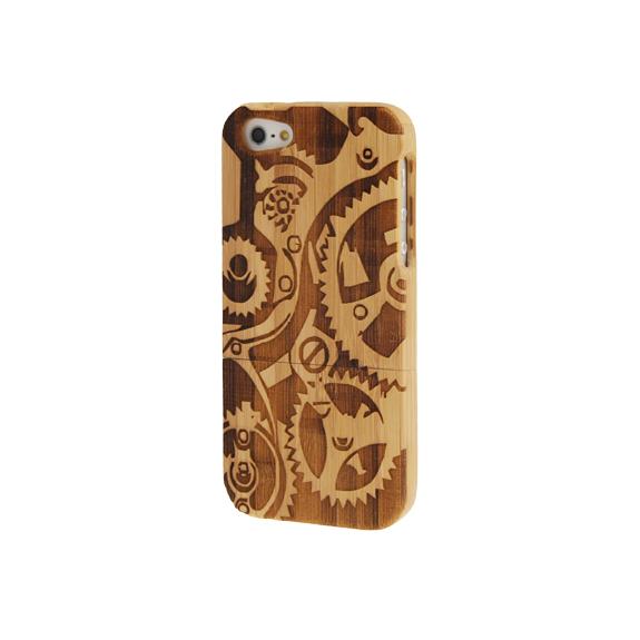 AppleKing dřevěný kryt pro Apple iPhone 5   5S   SE - steampunk - možnost  vrátit f45de496373
