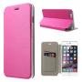 Otevírací / flip kožené pouzdro pro Apple iPhone 6 / 6S - rose