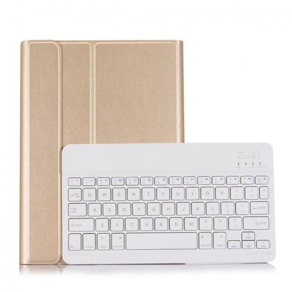 AppleKing luxusní kryt s bezdrátovou klávesnicí pro Apple iPad 9.7 (2017) / iPad 2018 / iPad 9.7 / iPad Air / iPad Air 2 - zlatý - možnost vrátit zboží ZDARMA do 30ti dní