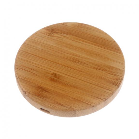AppleKing dřevěná Qi bezdrátová nabíječka pro Apple iPhone - kruhová - možnost vrátit zboží ZDARMA do 30ti dní