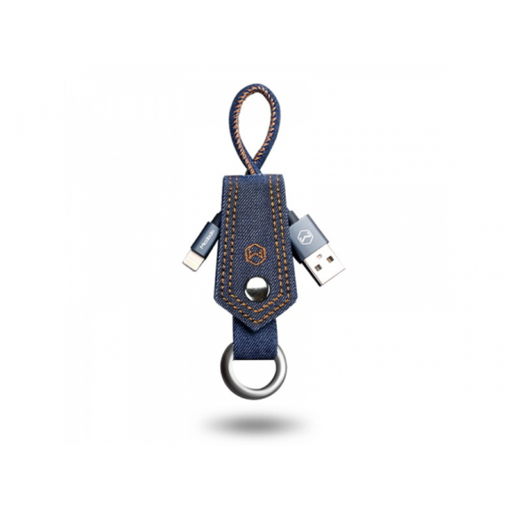 MCDODO USB synchronizační a nabíjecí kabel pro Apple iPhone - 15cm - džínový - možnost vrátit zboží ZDARMA do 30ti dní