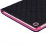 Pouzdro / kryt s integrovaným stojánkem pro iPad Air 2 - vzor kosočtverce - černé