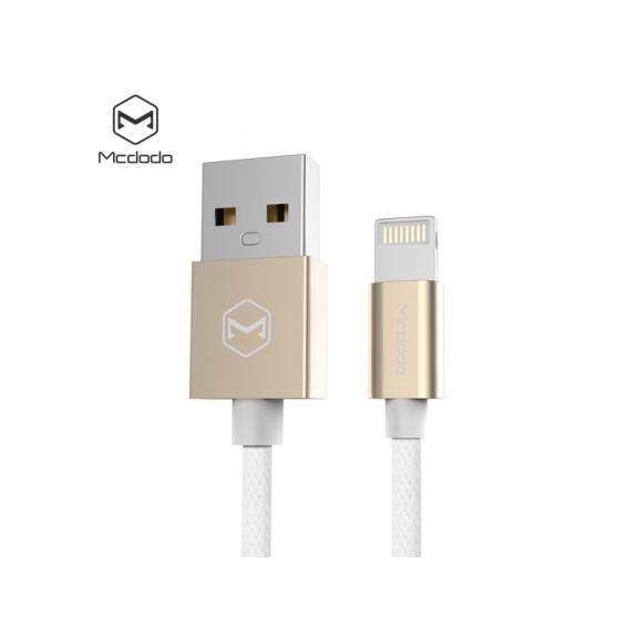 MCDODO USB synchronizační a nabíjecí kabel pro Apple iPhone - 1.2m - bílý - možnost vrátit zboží ZDARMA do 30ti dní