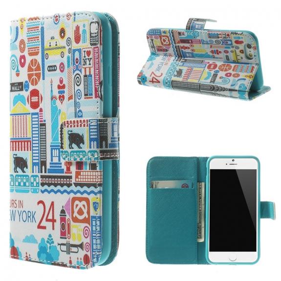 AppleKing peněženkové pouzdro se sloty na karty pro Apple iPhone 6 / 6S - 24 Hours in New York - možnost vrátit zboží ZDARMA do 30ti dní